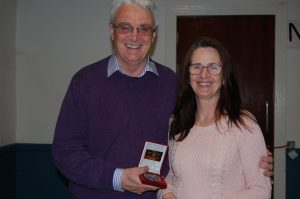 Brendan O'Sullivan and Maria O'Reilly with the gold medal as winner of the Northern Ireland Photographic Association's All Ireland Audio Visual