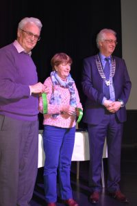 Brendan O'Sullivan & Rita Nolan receiving the Highly Commended award for the club sequence.