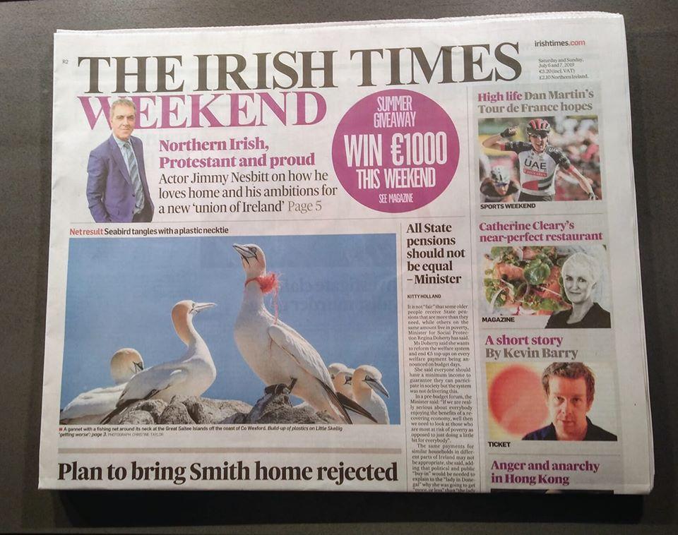 Gannett on Irish Times Weekend by Christine Taylor