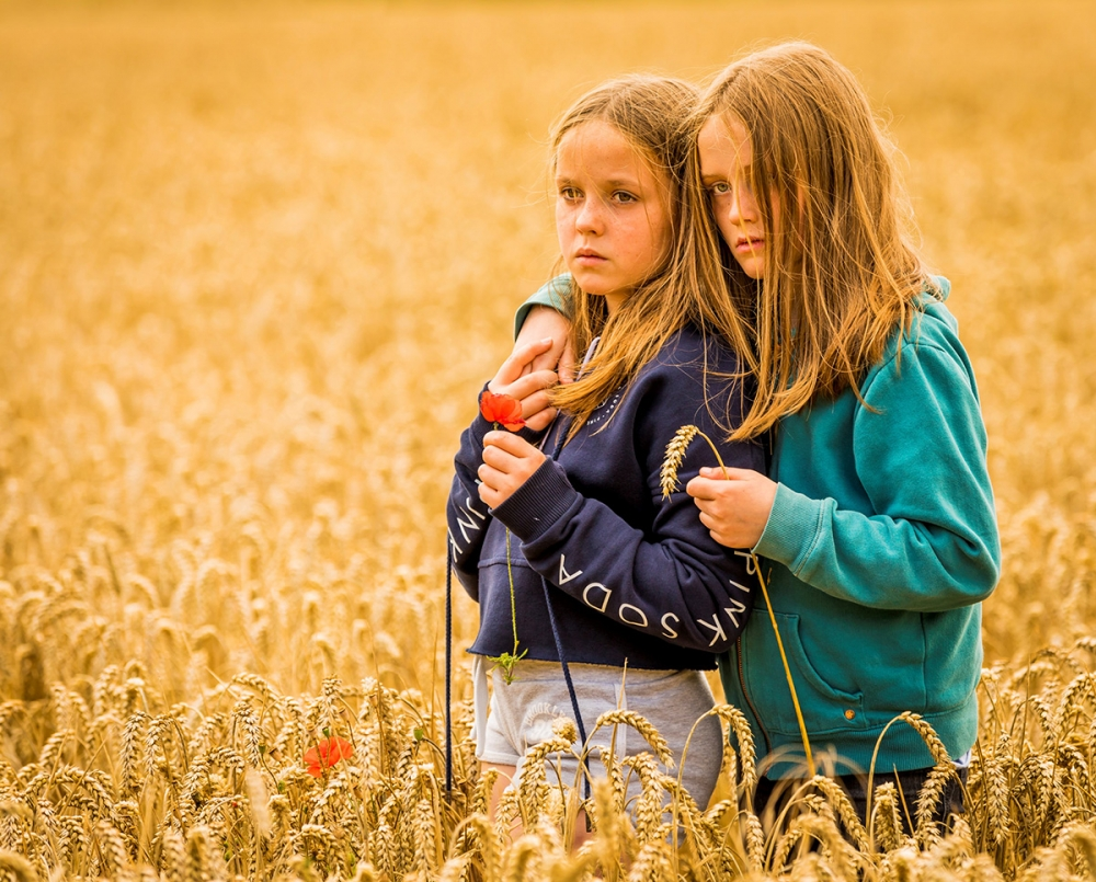 Girls in Field