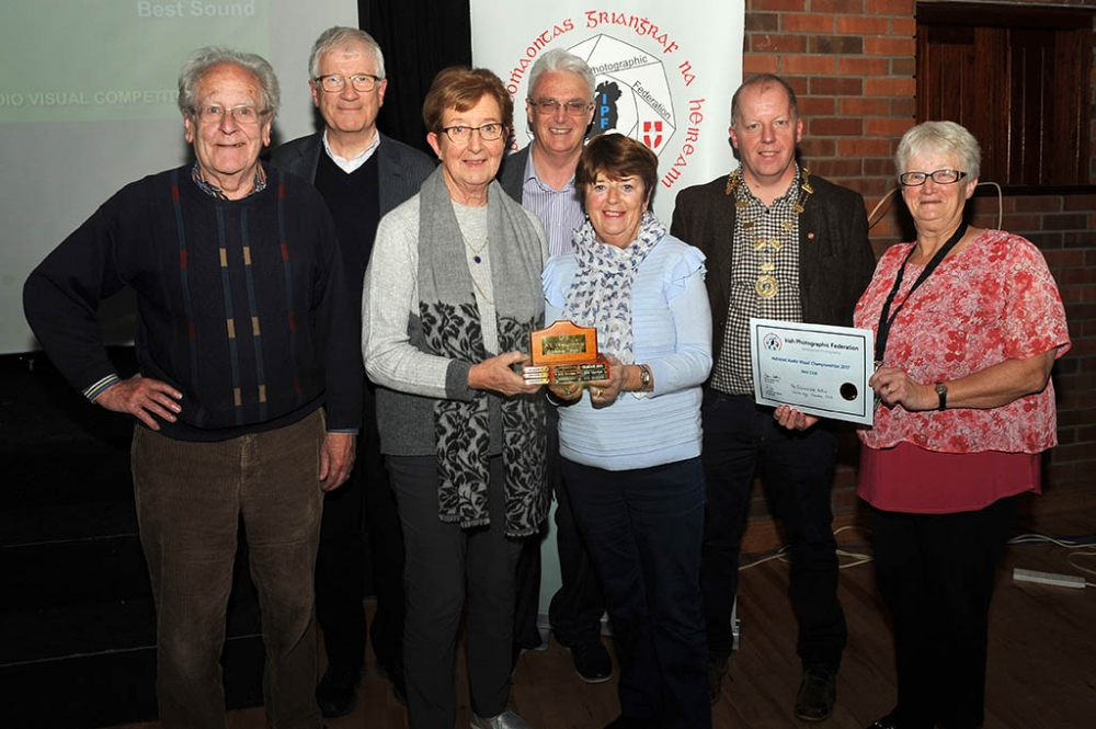 Club members receiving the Andora trophy for best club sequence